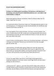 2013-06-01 Ausstellungseröffnung Gedenkstätte Grusswort Bronk