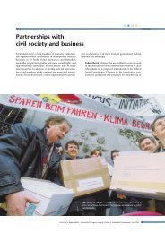 Partnerships with civil society and business (144K)