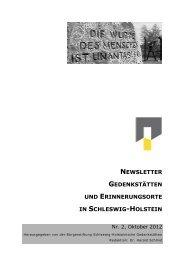 Nr. 2 - Oktober 2012 - Gedenkstätten Schleswig Holstein