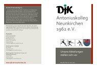downloaden - DJK Antoniuskolleg Neunkirchen 1962 eV