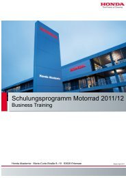 MC Schulungsprogramm Business 03-11.indd - Honda