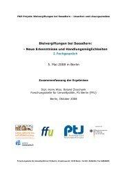 Dokumentation des 2. Fachgesprächs - Bleivergiftungen bei ...