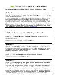 Baixar programação hbs - Heinrich Böll Stiftung