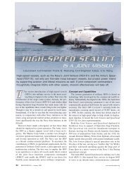 High-speed vessels, such as the Navy's Joint Venture (HSV-X1) - Incat