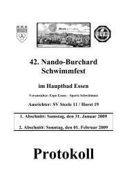 42. Nando-Burchard Schwimmfest - Schwimmverein Horst 1919 e.V.