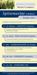 Termine 2012 Spitzenweine erleben! - weingut : lamberth