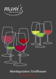 Weindegustation - mani's coffee & wine bar