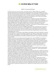 Leia a íntegra do texto aqui - Heinrich Böll Stiftung