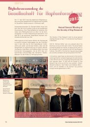 Annual General Meeting of the Society of Hop Research