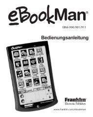 Verwendung der Menüs - Franklin Electronic Publishers