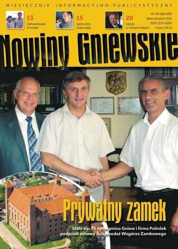Stało się. 15 lipca gmina Gniew i firma Polmlek ... - Biblioteka Gniew