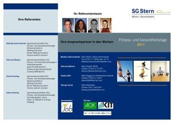 klicken für den aktuellen Flyer (PDF) - fit for job, Sport- und ...
