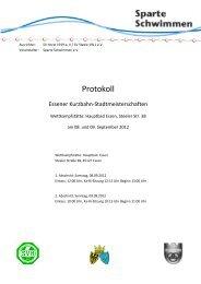 Protokoll für einen Abschnitt - Schwimmverein Horst 1919 e.V.