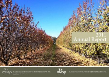 Annual Report 2011 - Mallee Accommodation and Support Program