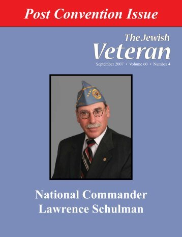 Post Convention Issue - Jewish War Veterans of the United States