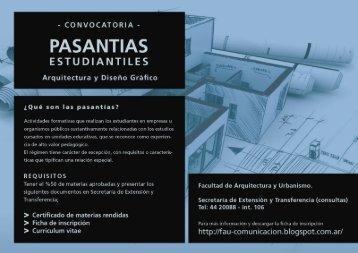 PASANTIAS - Facultad de Arquitectura y Urbanismo - Universidad ...