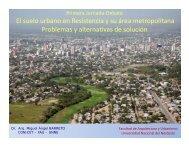 Presentación 1ra Jornada - Facultad de Arquitectura y Urbanismo