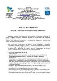 Polityka bezstronności ITP - Instytut Technologiczno-Przyrodniczy
