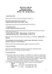 Regulamin MP MTB 2008 Kielce - Polski Związek Kolarski