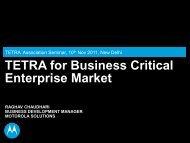 TETRA for Business Critical Enterprise Market