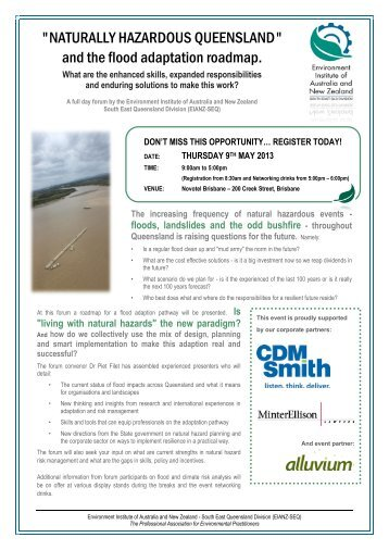 to download the flyer - Environment Institute of Australia and New ...