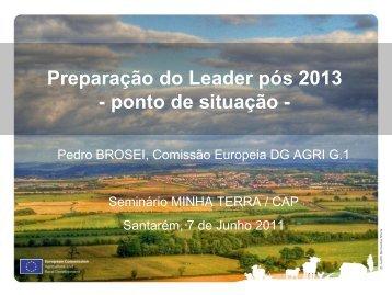 Preparação do Leader pós 2013 - ponto de situação - - Minha Terra