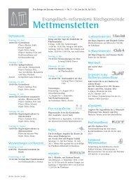 07-mettmenstetten pdf, Gemeindeseite reformiert Nr. 7, Juli 2013