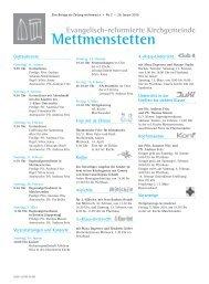 02-mettmenstetten pdf, Gemeindeseite reformiert Nr. 2, Februar 2010