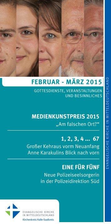 Programm des Evang. Kirchenkreises Halle-Saalkreis für Februar - März 2015