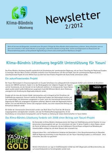 Newsletter - Klima-Bündnis Lëtzebuerg