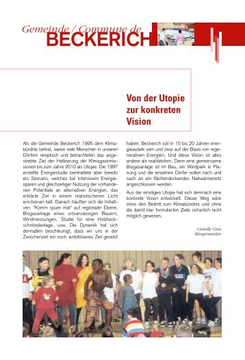 BECKERICH - Klima-Bündnis Lëtzebuerg