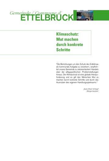 ETTELBRUCK - Klima-Bündnis Lëtzebuerg