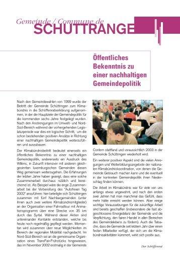 SCHUTTRANGE - Klima-Bündnis Lëtzebuerg
