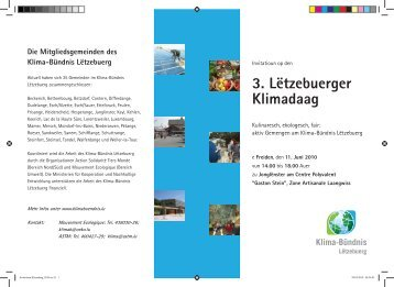 3. Lëtzebuerger Klimadaag - Klima-Bündnis Lëtzebuerg