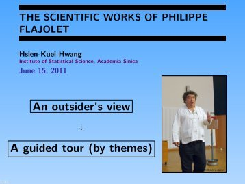 THE SCIENTIFIC WORKS OF PHILIPPE FLAJOLET - AofA'11