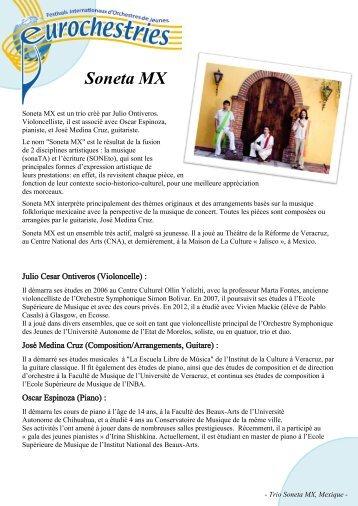 Trio Soneta, Mexique - Eurochestries