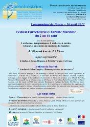 Charente Maritime - Avril 2012 - Eurochestries