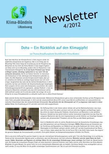 Newsletter 4/2012 - Klima-Bündnis Lëtzebuerg