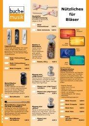 Nützliches für Bläser 2015
