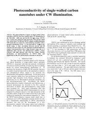 Photoconductivity of single-walled carbon nanotubes under CW ...