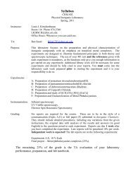 Syllabus - URI Department of Chemistry