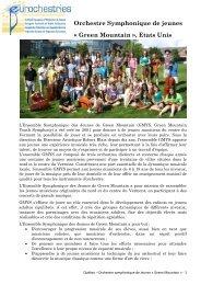 Orchestre Symphonique de jeunes Â« Green ... - Eurochestries