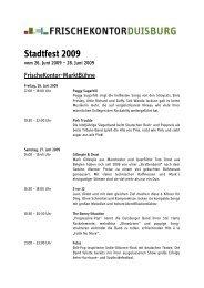 Stadtfest 2009 - FrischeKontor Duisburg GmbH