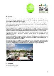 1. Vorwort 2. Bewerber - FrischeKontor Duisburg GmbH