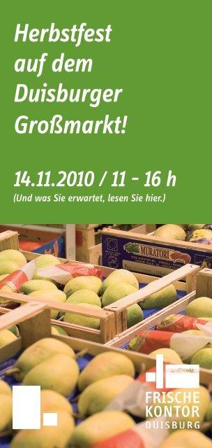 Herbstfest auf dem Duisburger Großmarkt! - FrischeKontor Duisburg ...