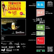 Flyer Jazz auf'm Plazz - FrischeKontor Duisburg GmbH