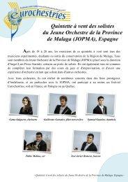 Quintette à vent des solistes du JOPMA, Espagne - Eurochestries
