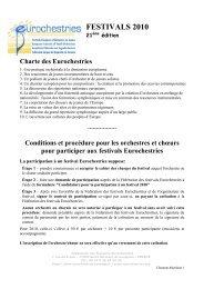 Conditions Charente-Maritime 2010 - Eurochestries