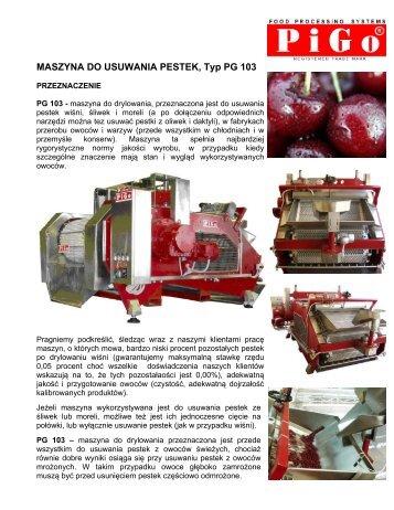 PG 103 Opis ogólny i dane techniczne - PIGO