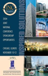 Sponsorship Opportunities - American Woman's Society of Certified ...